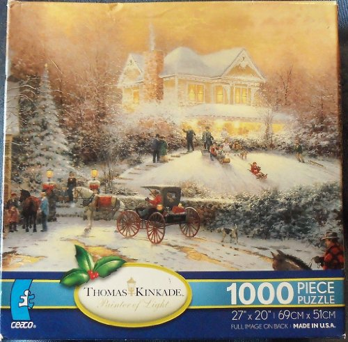 Thomas Kinkade Painter of Light Victorian Christmas II Jigsaw Puzzle