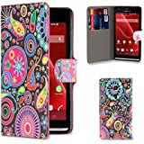 32nd® Design book PU leather wallet case cover for Sony Xperia SP (M35h) mobile phone - Jellyfish