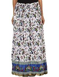 Saadgi Rajasthani Hand Block Printed Handcrafted Ethnic Lehnga Skirt For Women/Girls - B06XGHXSH3