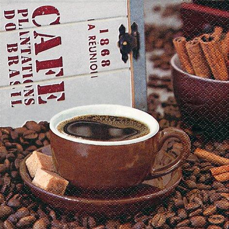 20 Servietten Café 1868 - Kaffeegenuss / Kaffee / Cafe 33x33cm