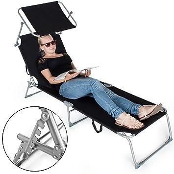 3 tectake chaise longue bain bain de soleil for Chaise longue pare soleil