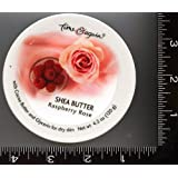 """1 , Container, of, Raspberry Rose , Shea Butter, the Ultra Moisturizing, Shea Butter, Cream, by, Time & Again, about 4.2 oz. (120g), per Container, about 3.6"""", or 92mm Wide x 1.5""""or 39mm Tall ~ Time & Again"""