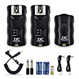 Wireless Flash Trigger JJC Remote Control Flash Trigger Kit for Canon Flash 600EX 580EX on Canon T6 T5 T3 T7i T6s T6i T5i T4i T3i T2i T1i SL2 SL1 80D 77D 70D 60Da 60D M6,etc with 2 Receivers (Color: 1 Transmitter + 2 Receiver)