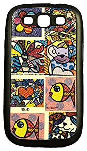 Zeztee ZT7144 Multicolor print Mobile Back Cover For Samsung S3 (9300)
