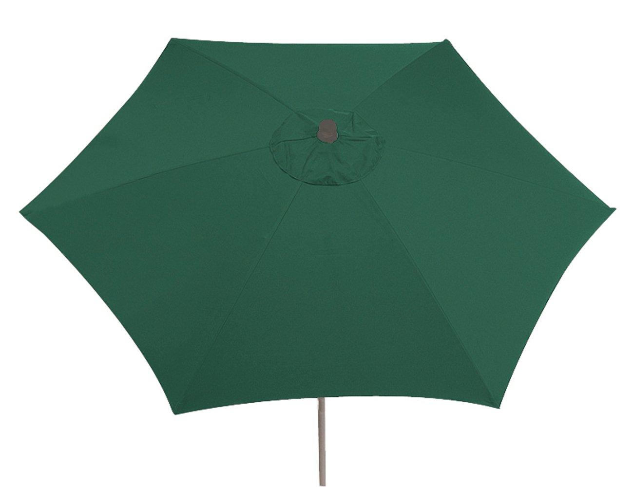Siena Garden 336876 Sonnenschirm Push Up, Bezug grün Gestell silber 300 cm