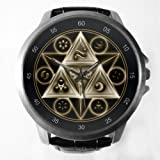Zelda Tri Force Legend Symbol Custom Metal Sport Watch with Leather Band