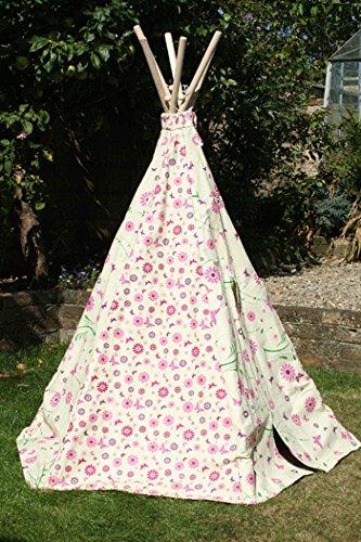 garden-games-flower-butterfly-wigwam-play-tent-water-resistant-and-velcro-door