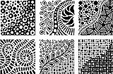 Cedar Canyon Textiles Artists Paintstiks Rubbing Plates, Doodles, 6-Pack