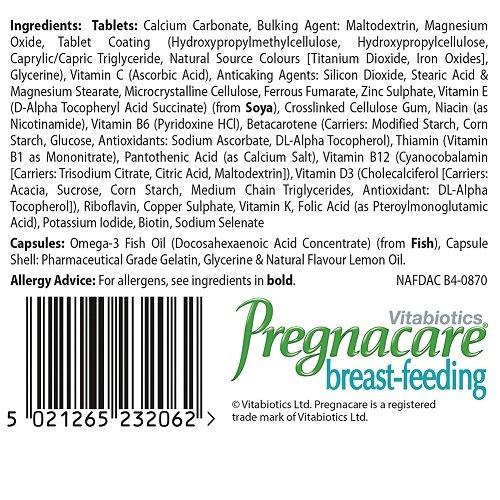 Vitabiotics – Pregnacare – Breast-Feeding – 84 Tablets