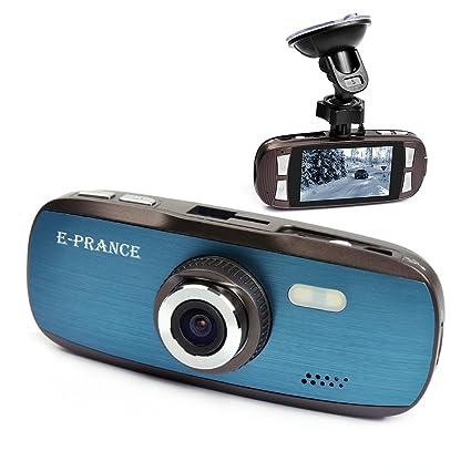 E-PRANCE G1W Novatek Caméra de tableau de bord FHD 1080p à 30 FPS + Écran 7 cm (2,7 pouces) + accéléromètre + incrustation de la plaque d'immatriculation + MOV + objectif grand angle de 140 degrés + vision