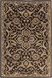 Brown Rug Classic Design 2-Foot 3-Inch x 14-Foot Hand-Made Traditional Wool Carpet