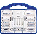 Panasonic KJ17MCC82A eneloop Power Pack, 8AA, 2AAA, 2 C Adapters, 2 D Adapters, Advanced Individual Battery Charger and Plastic Storage Case (case color may vary) (Color: Exclusive Edition)