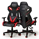 AutoFull Gaming Chair- Video Game Chairs Mesh Ergonomic High Back Computer Racing Chair for Adults with Lumbar Support (1 Pack) (Color: Red-4, Tamaño: Mesh)