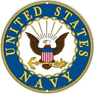 Amazon.com: Navy Military Logo Aluminum Sign - US Service Branch Metal