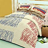 Raymond Travel Cotton Double Bedsheet with 2 Pillow Covers - King Size, Yellow