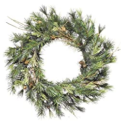 "24"" Mixed Country Pine Artificial Christmas Wreath - Unlit"