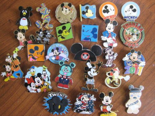 20 Mickey Mouse Disney Pins Collection Lot P