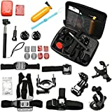 AGPtek Accessories Case 30-in-1 Professional Accessories Set Kit Tool Ultimate Combo For GoPro Hero 4 3+ 2 SJ400 -- Travel Household Storage Protection/ Keep Accessories Well-organized