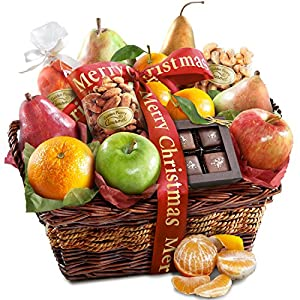 Golden State Fruit Christmas Orchard Delight Fruit and Gourmet Basket Gift