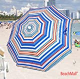 Deluxe 6 ft Tommy Bahama Beach Umbrella UPF 100+ Umbrella Color: Stripe E