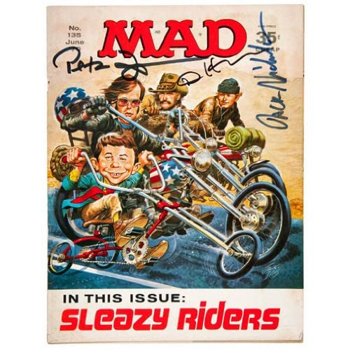 Easy Rider Parody Autographed/Hand-Signed by Jack Nicholson, Dennis ...