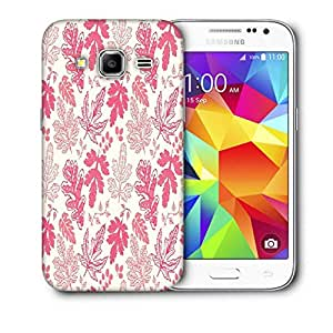 Snoogg Red Leaves Printed Protective Phone Back Case Cover For Samsung Galaxy Core Plus G3500