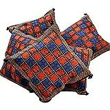 Ufc Mart Hand Block Bagru Print Cotton Cushion Cover Set, Color: Multi-Color, #Ufc00413