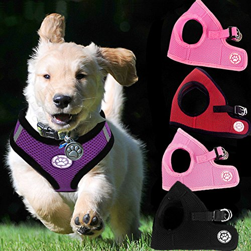 Yunt-Adjustable-Small-Pet-Dog-Puppy-Chihuahua-Soft-Mesh-Fabric-Padded-Harness-Collar