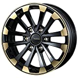 【トヨタ ハイエース(全グレード)2004~】 ホイール:WEDS マッコイズ EP-4_ブラック&ゴールド 6.5-16 6/139 タイヤ:TOYO トーヨー H20 215/65R16 (16インチ アルミホイールセット)
