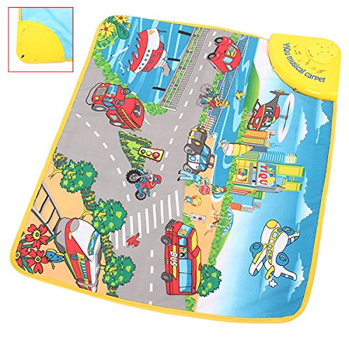 Novelty Coastal City Musical Music Touch Play Carpet Mat Blanket Kid Baby Toy front-653657