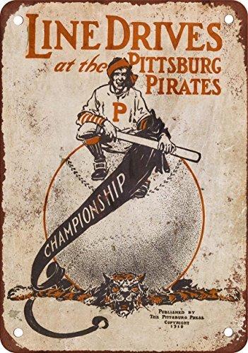 1910-linea-unita-al-pittsburgh-pirates-look-vintage-riproduzione-in-metallo-tin-sign-203-x-305-cm