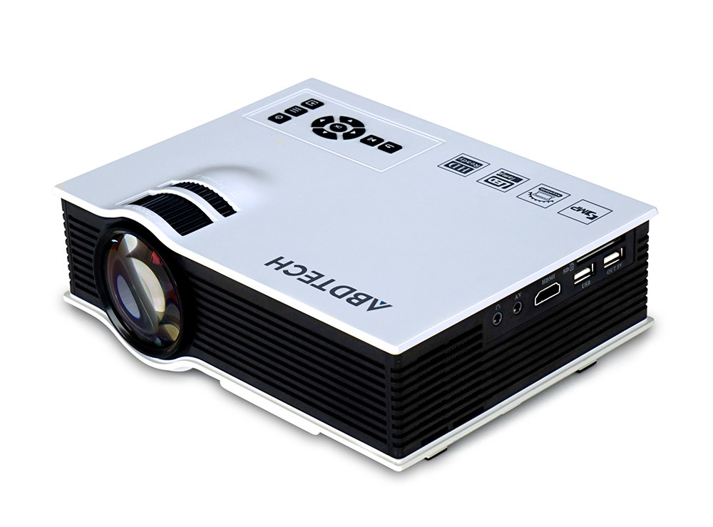 "Abdtech 130"" Mini LED Projector 800 Lumens Multimedia Beamer Portable Home Theatre Projectors"