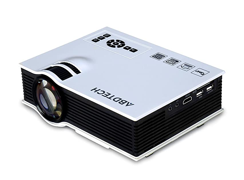 Abdtech 130 mini led projector 800 lumens multimedia for Beamer portable