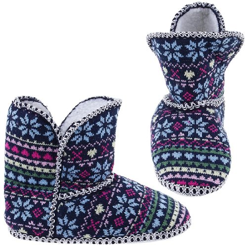 Cheap Chatties Snowflake Fair-Isle Bootie Slippers for Women (B005Y4T5XA)