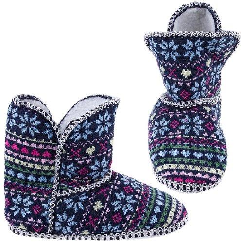 Image of Chatties Snowflake Fair-Isle Bootie Slippers for Women (B005Y4T5XA)