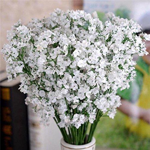 LEERYA Artificial Gypsophila Flower Fake Silk Wedding Party Bouquet Home Decor