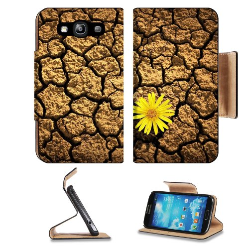 Flower Bud Crack Land Drought Samsung Galaxy S3 I9300 Flip Cover Case With Card Holder Customized Made To Order Support Ready Premium Deluxe Pu Leather 5 Inch (132Mm) X 2 11/16 Inch (68Mm) X 9/16 Inch (14Mm) Liil S Iii S 3 Professional Cases Accessories O