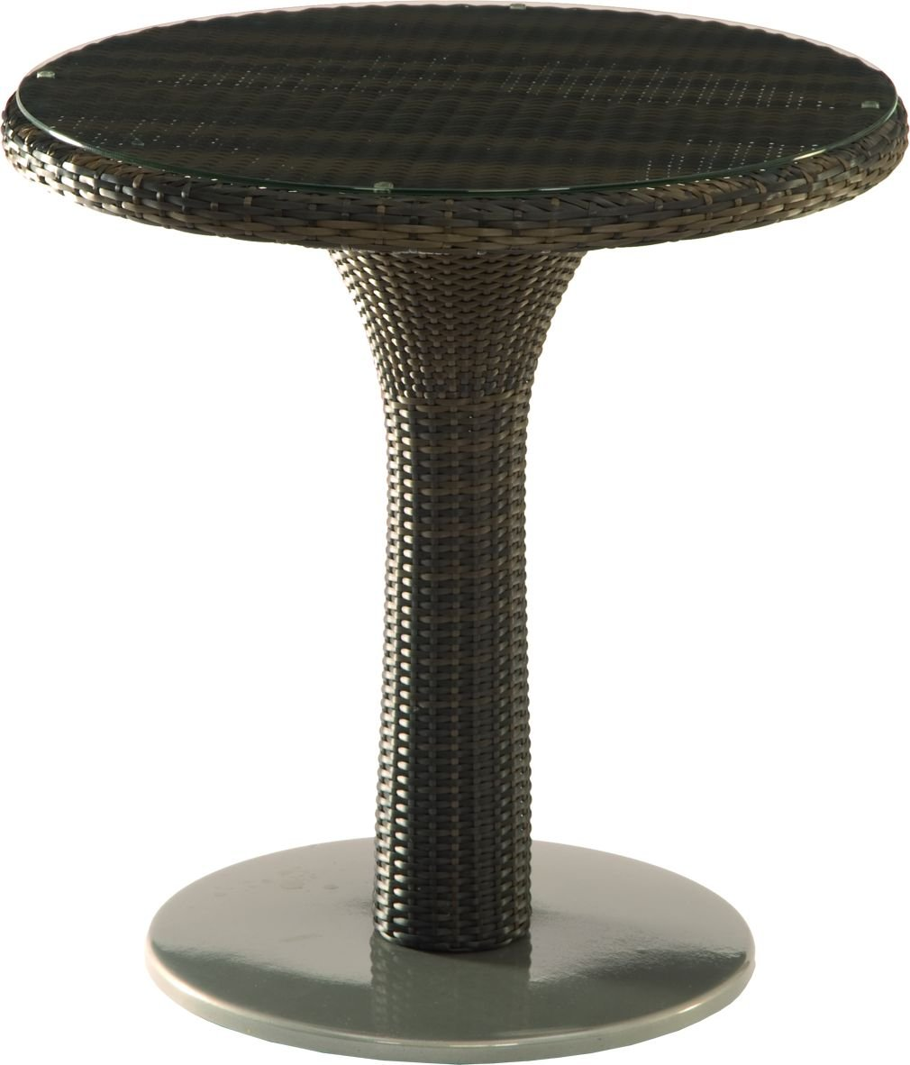 Stern 419887 Bistrotisch Eden ø 70 cm graphit, Geflecht mokka, mit Klarglasplatte online bestellen