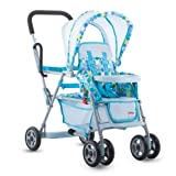 Toy Doll Caboose Tandem Stroller - Blue Dot (Color: Blue, Tamaño: 6.2 x 13.8 x 26.5)