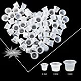 Wormhole 1000pcs Tattoo Ink Caps for Tattooing Mixed Tattoo Ink Cups Disposable Pigment Cups #9 Small #13 Medium #16 Large