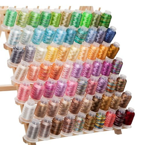 70 Spools Variegated Embroidery Machine Thread (Embroidery Machine Thread Blue compare prices)