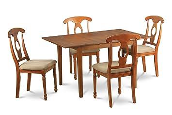 East West Furniture MLNA5-SBR-C 5-Piece Kitchen Nook Dining Table Set