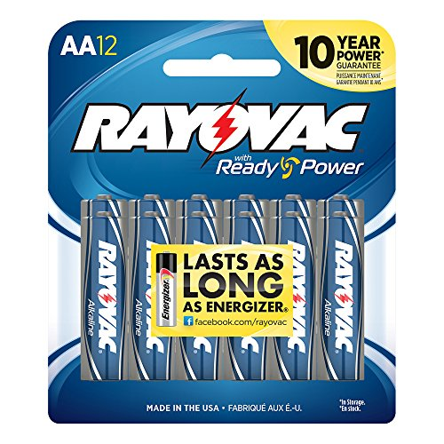 Rayovac Alkaline AA Batteries, 12-Pack - 1