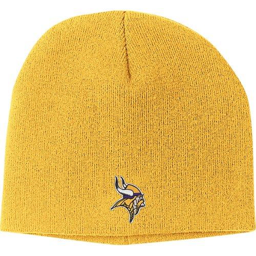NFL Reebok Minnesota Vikings Gold Basic Logo Knit Beanie (Vikings Stocking Cap compare prices)