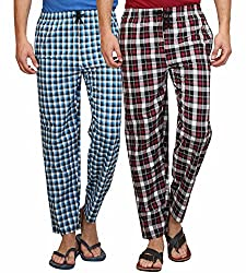 Maxis Mens Cotton Pyjama Bottoms(Pack Of Two) (Medium)