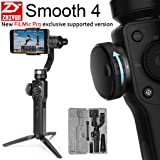 [FiLMic Pro Verson] Zhiyun Smooth 4 3-Axis Handheld Gimbal Stabilizer w/Focus Zoom Capability for Smartphone Like iPhone X 8 Plus 7 6 SE Samsung Galaxy S9+ S9 S8+ S8 S7 S6 Q2 Smooth-Q/III (Color: Black)