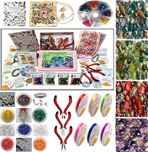 jewellery-making-beads-mix-pliers-findings-starter-kit-gift-set