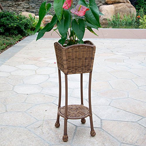 Patio Planter Stand Color: Honey image