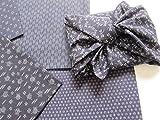 6 pieces Japanese Wrap cloth FUROSHIKI, Navy color series
