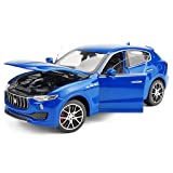 XINGPING-TOY Maserati Levante Alloy Car Model 1:24SUV Car Model Collection Ornaments (Color : Blue) (Color: Blue)